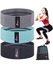 FitTrimX Fabric Resistance Bands Set of 3 for Women and Men, Exercise Bands for Legs and Butt Workout, Workout Bands for Booty, Thighs and Hip Strength Training