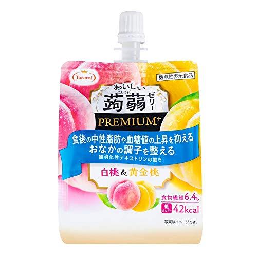 たらみ おいしい蒟蒻ゼリー PREMIUM+ 白桃&黄金桃 150g×6個