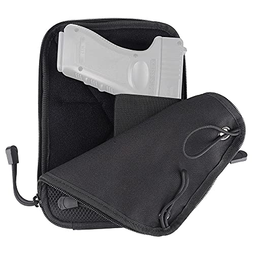 MiOYOOW Funda Táctica de Pistola, Bolsa de Transporte Oculta para Pistola con Trabillas Bolsillo Cintura para Pistola Bolsa para Cinturón de Cadera