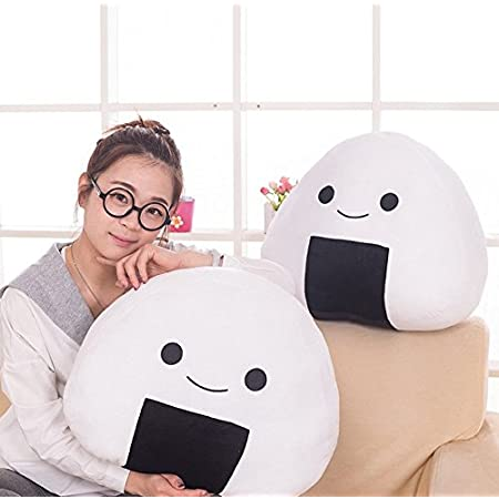 Japanese Kawaii White Sushi Rice Ball Cute Stuffed Plush Cushion Pillow Baby Toy