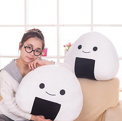 Stuffed Short Plush Onigiri Sushi Girls Birthday Gift Food Neck Pillow Cushions Nap Doll Home Essential (30cm11cm26cm)