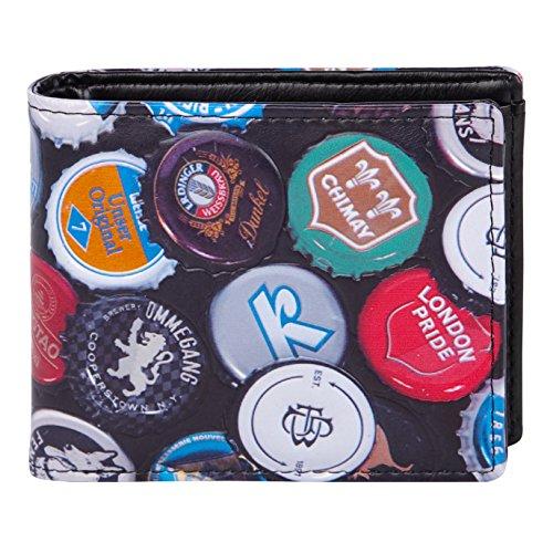 Shagwear - Monederos para hombre jóvenes: Varios colores y diseños: (tapas de botella / Bottle Caps N)