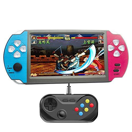 HLF 5,1-Zoll-Retro-Arcade-Spielekonsole für Zwei Spieler mit Akku mit großer Kapazität, 8600 Spiele,...