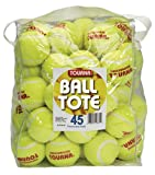 Tourna Pressureless Tennis Balls with Vinyl Tote (45 pack of balls)