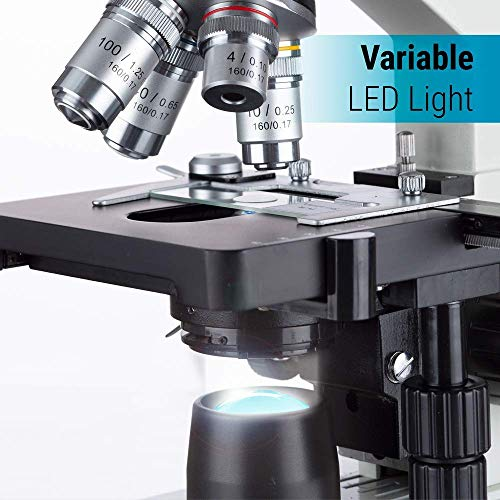 OMAX LED Binocular Microscope with Double Layer Mechanical Stage