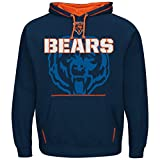 Majestic Chicago Bears NFL Seam Pass Pullover Hooded Sweatshirt -