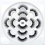 5D False Mink Eyelashes Wispies Dramatic 15 MM Fake Bluk Lashes for Girls Makeup Handmade Soft Eyelash,7 Pairs Reusable Lashes