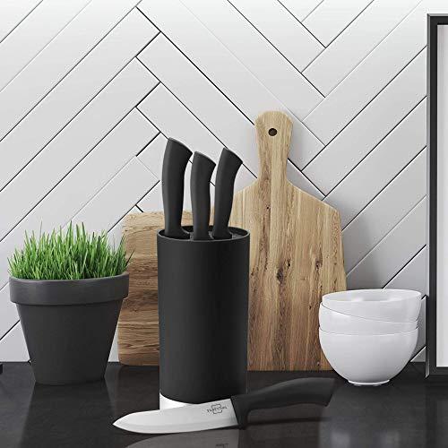 Silberthal Keramikmesser Set weiß – 4-teiliges Messerset - 6
