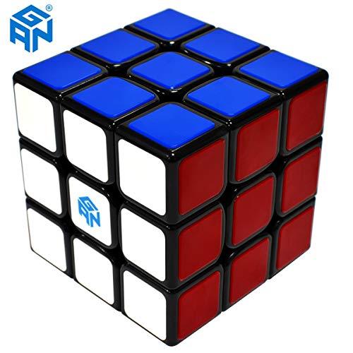 Maomaoyu GAN 3x3 Zauberwürfel Speed Cube, Tiled Scratch Proof 3x3x3 Smooth Magic Puzzle Cube Toy Black (GSC)