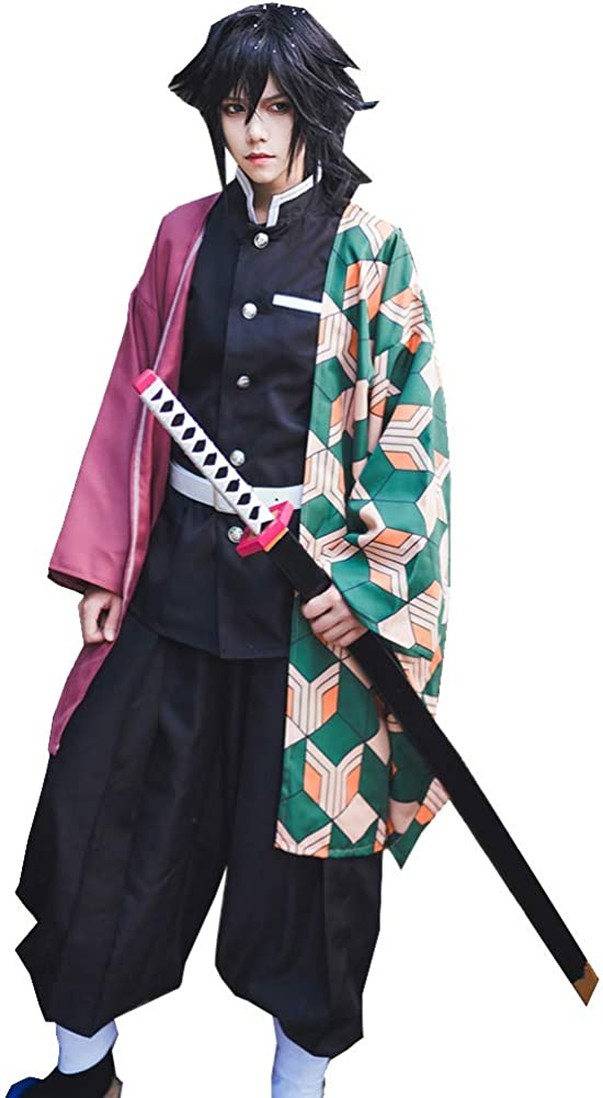 with Wig Women's Kamado Nezuko Kimono 4 years warranty wit Outfit Costume Detroit Mall Cosplay