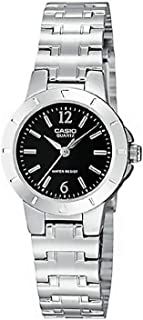 Casio Women's Black Dial Stainless Steel Band Watch - LTP-1177A-1ADF