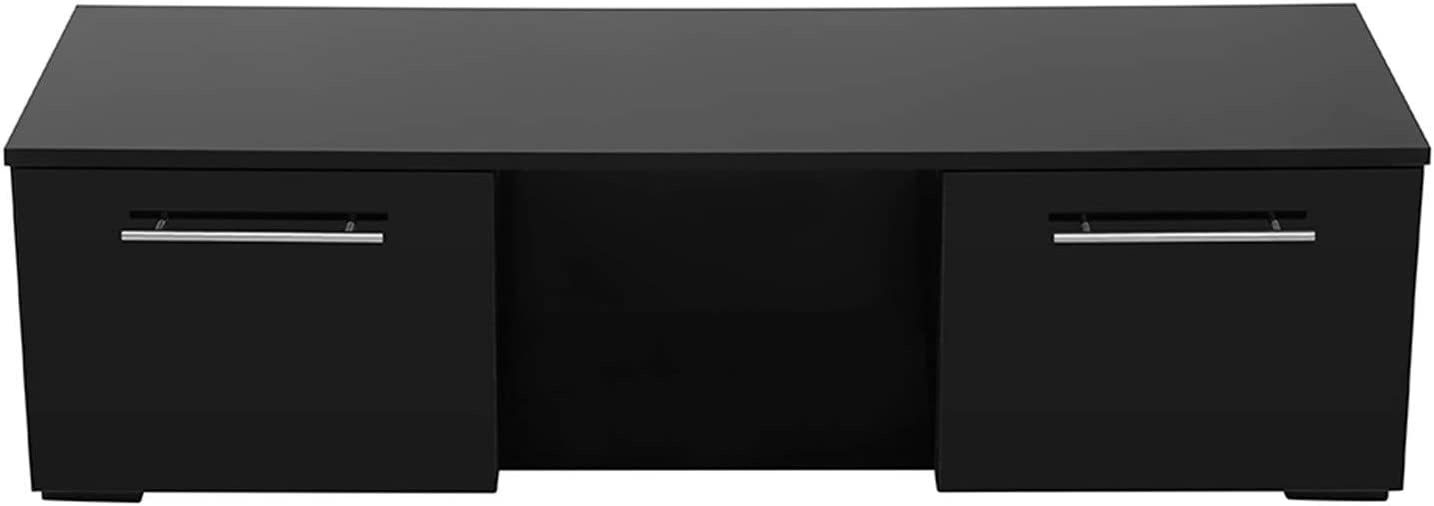 Max 50% OFF TV Stand Wood Cabinet Reservation with Min Lights High-Gloss LED Modern