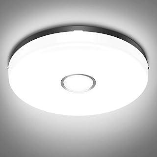 Olafus Plafon LED Techo 18W 1600LM, 24CM Blanca Fría 5000K Lámparas de Techo IP54 Impermeable, Equivalente a 120W Lámpara Incandescente, Adecuado para escaleras, dormitorios pequeños, cocinas pequeñas