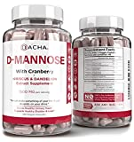 Natural D-Mannose Capsules 4-in-1 Formula - 120 CAPS, 1500 MG Cranberry, Dandelion, Hibiscus Flower Extract, Fast-Acting Pills for Bladder Health, Urinary Tract Infection UTI Support Flush Impurities