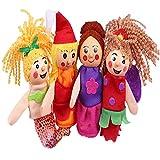 Set Di Marionette Da Dito Marionette Da Dito Guanto Da Burattino Da Dito Animali Marionette Da Dito Mermaid Fingers Storytelling Props Per Fiabe Interazione Genitore Figlio Bambini Che Giocano 4 Pezzi
