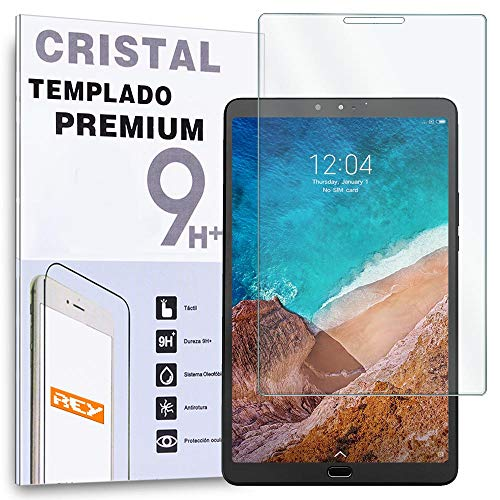 REY Protector de Pantalla para XIAOMI MI Pad 4 Plus 10.1', Cristal Vidrio Templado Premium, Táblet