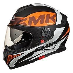 SMK MA271 Twister (Matt Black, Orange, and White, XL)