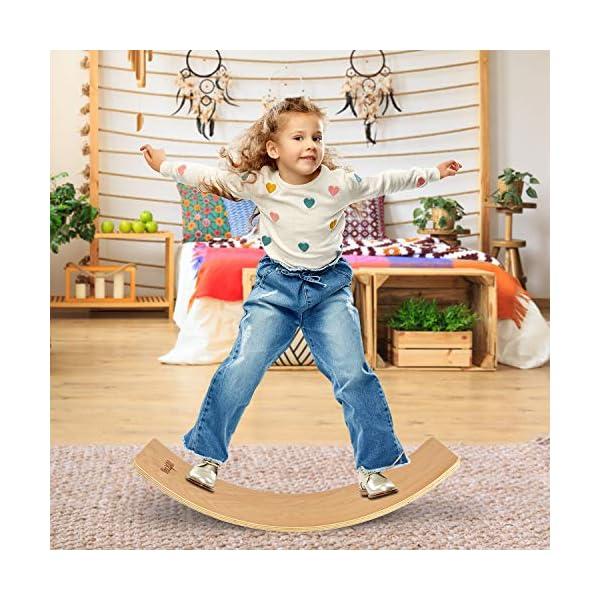 Yes4All Wooden Balance Kindergarten – Balance Board Kids/Wobble Balance Board for...