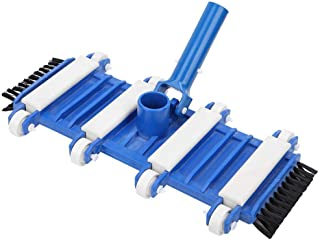 Pool Vacuum Brush Head, Pool Vacuum Head with Side Brush Wheels Fish Pond Pool Cleaning Tool, Pool Cleaner Attachments