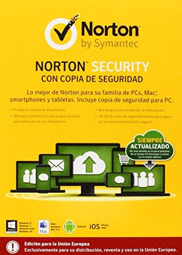 Norton Security Backup Antivirus 2,0 +-25 Go 1 Utilisateur 10 Dispositifs