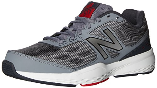 New Balance Men's 517 V1 Cross Trainer, Grey/Red, 15 XW US