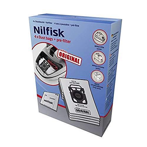 Nilfisk 107412688 - Bolsas de microfibra para aspirador