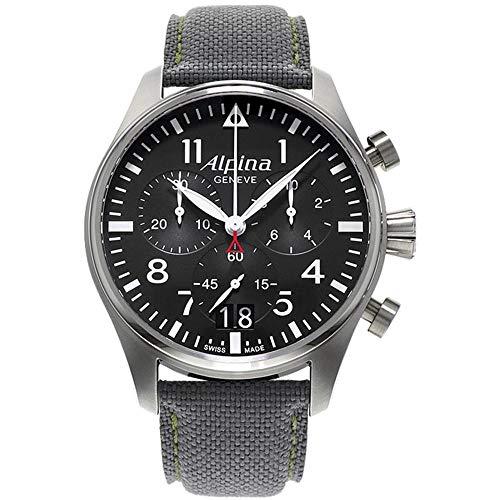 Alpina Herren Chronograph Quarz Uhr mit Leder Armband AL-372B4S6