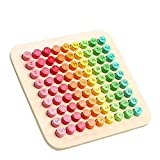 Wooden Montessori Multiplication Board Montessori Preschool Learning Toys Math Keyboard Development and Education Toys Suitable for Children Over 5 Years Old