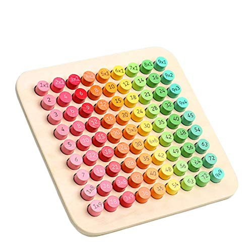 Wooden Montessori Multiplication Board Montessori Preschool Learning Toys Math...