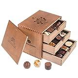 ChocoGrande - Ladies - 30 exclusivos Surtido De Pralinés | bombones Praliné | regalo en caja de madera | sabores | Chocolate | Cumpleaños | Mujer | Dia de la madre | San valentín | Dulces navideños