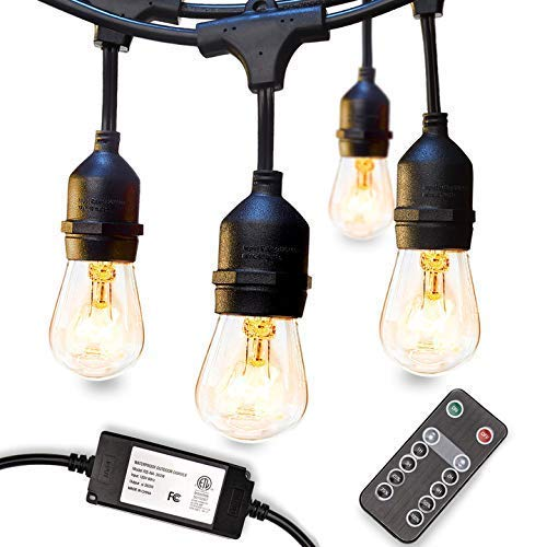 48 FT ADDLON Outdoor String Lights and Dimmer for Outdoor String Lights
