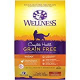Wellness Complete Health Grain Free Natural Dry Cat Food, Indoor Chicken Recipe, 11.5-Pound Bag