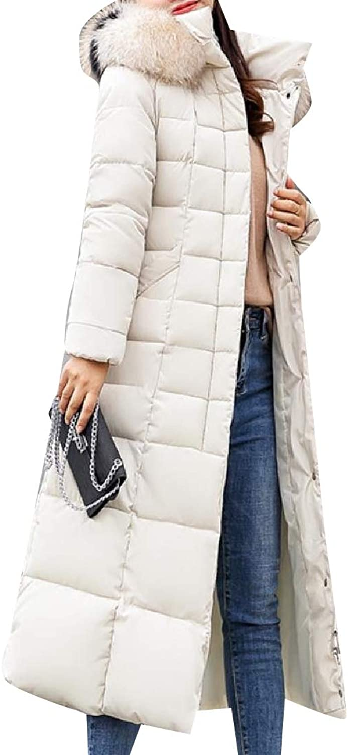TaoNice Womens with Faux Fur Hood Thickened Jacket Outwear