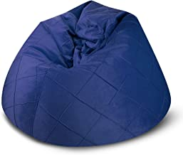 BAGZO ROPY RELAXING CHAIR XLARGE COMFY BEAN BAG BLUE