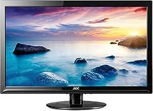 AOC E2425SWD 24-Inch Wide LCD Monitor (1920x1080 Optimum Resolution, 20M:1 DCR, DVI-D and VGA connectivity) Black