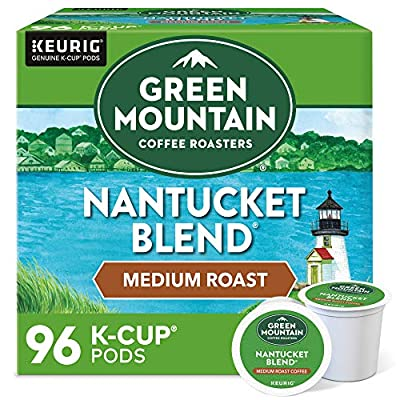 Green Mountain Coffee Nantucket Blend, Fair Trade, Medium Roast Coffee, 96 Count