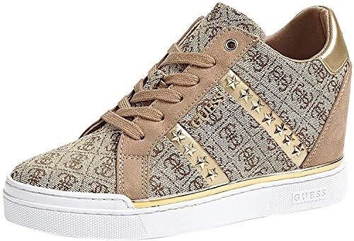 Guess Scarpe Donna Sneakers con Zeppa Interna FL5FY2FAL12 Beige Taglia 38 Beige