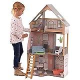 KidKraft- Alina Maison Bois avec Meubles et Accessoires pour poupées de 30 cm, 10229, Blanc