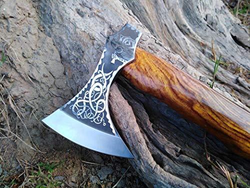 viking axe sale, engraved axe,TOMAHAWK BEARDED AXE 14'' long