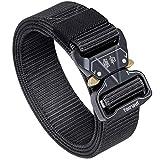 Fairwin Tactical Belt, 1.5 Inch Wide Heavy Duty Military Style Tactical Belts for men (Black, Waist 54'-58')