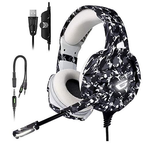 Fone Ouvido Headset Gamer Profissional Camuflado Onikuma K5