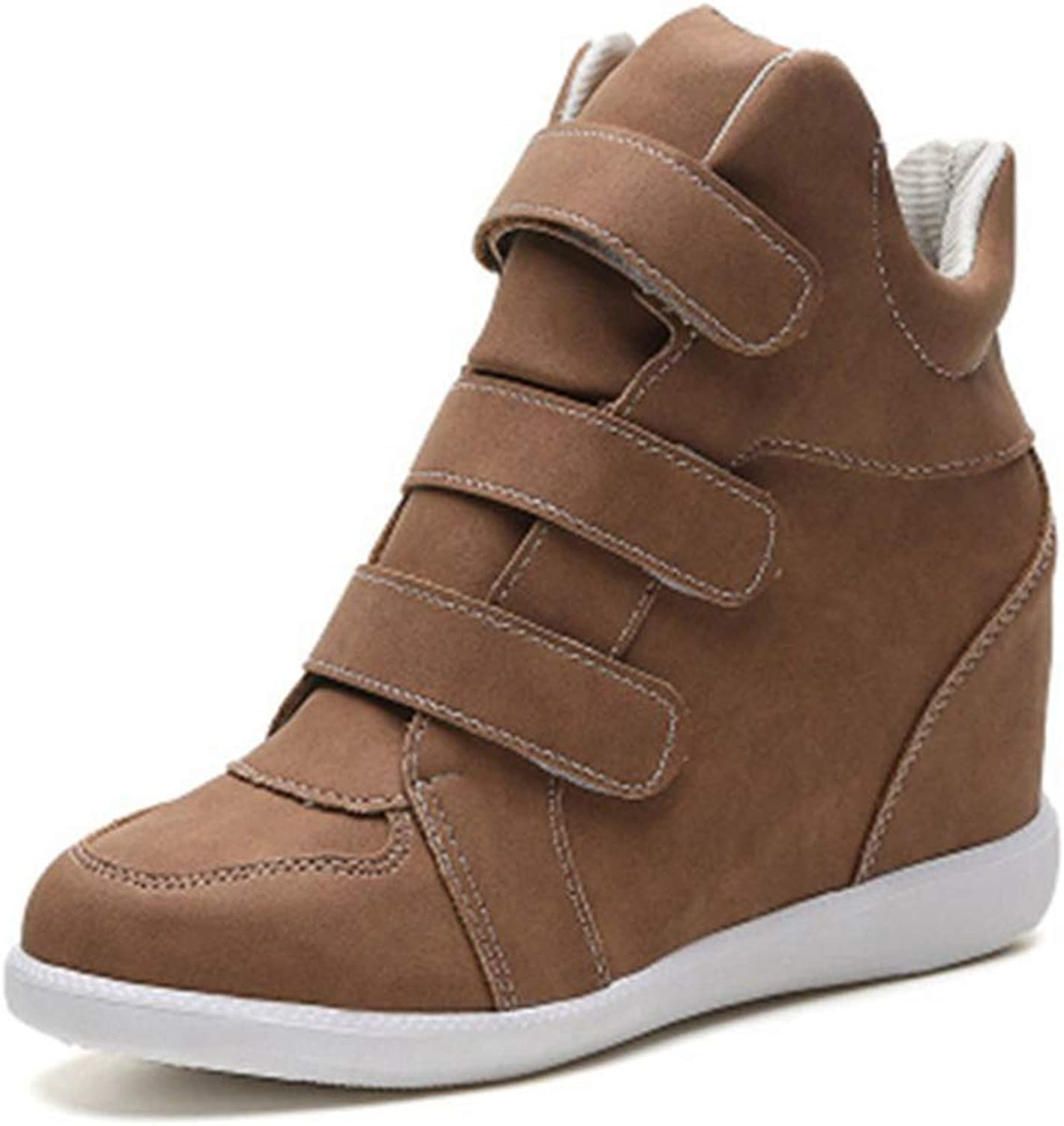 U-MAC Womens Hidden Heels Wedge Sneakers Fashion High Breathable Thick Sole Non Skid Walking shoes