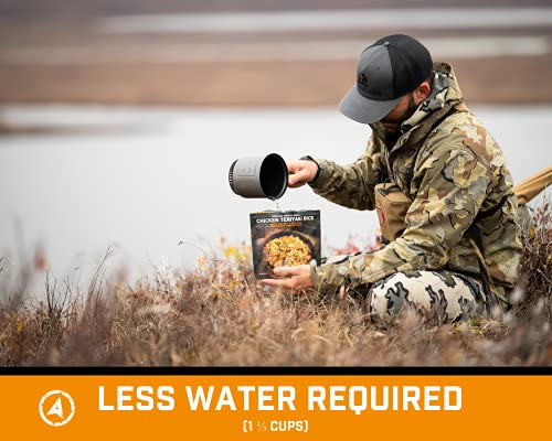 Peak Refuel Chicken Teriyaki Rice   2 Serving Meal Pouch   Freeze Dried Backpacking and Camping Food   Amazing Taste   Quick Prep