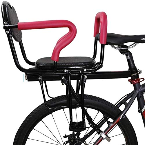 Bicycle Child Safety Rear Seats with Back Rest Foot Pedals Big Space Thickening Baby Seat Electric Car Bicycle Mountain Bike Seat