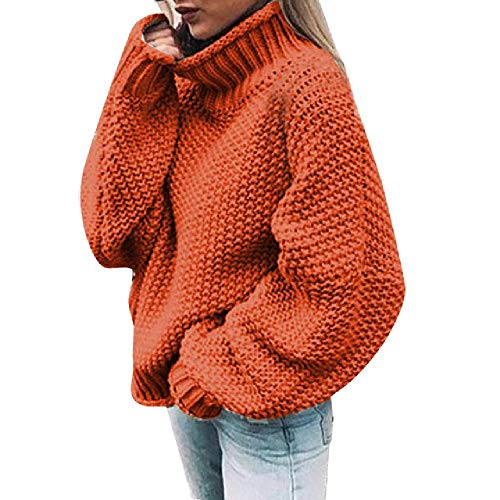 Oversized Coltrui Gebreide trui Winter Knitwear Plus Size Slim Solid Groen Oranje Wit Warm Casual Trui Vrouwen #L30