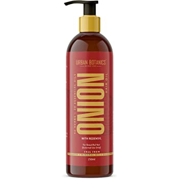 UrbanBotanics® Onion Oil for Hair Growth - Blend of 20 Essential oils & 40 Herbs & Redensyl - 250ml
