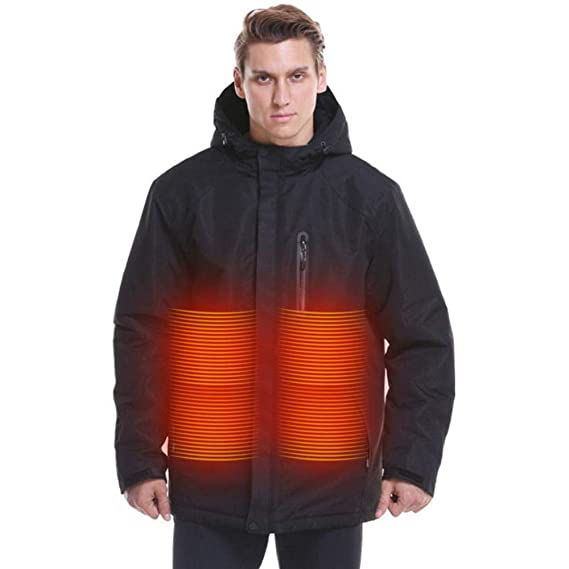 Buy Heated Jacket for Men,5 V USB Electric Heating Jacket Mens Winter Heated  Jacket Coat Electric Heated Outerwear, Windproof Warm Heat Jacket Carbon  Fiber Heating Jacket, Durable & Washable at Amazon.in