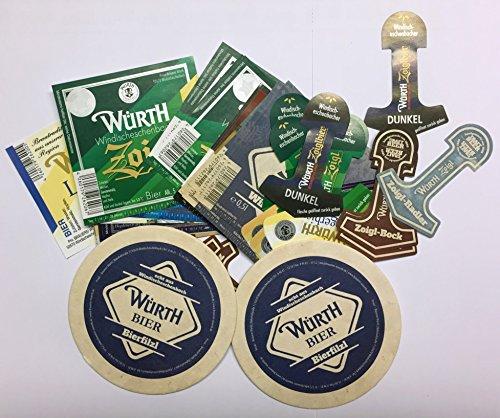 Würth - Bier Etiketten und Bierdeckel für Sammler