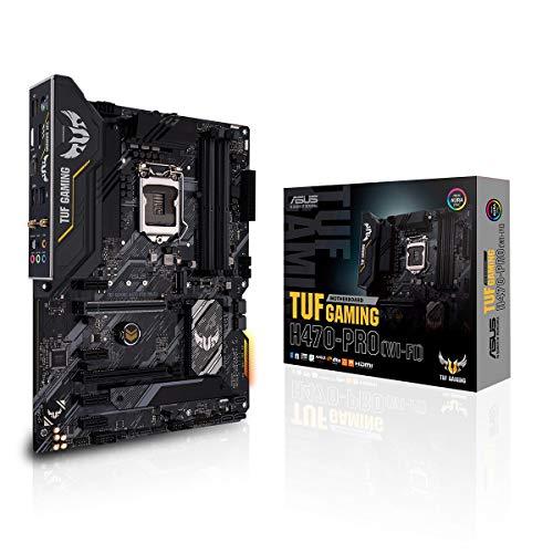 ASUS TUF Gaming H470-PRO (WI-FI) Mainboard Sockel 1200 (ATX, Intel H470, WiFi 6, HDMI, DisplayPort, SATA 6Gbit/s, USB 3.2 Gen 2, Thunderbolt 3, Aura-Sync)