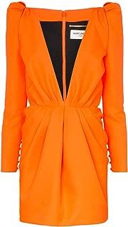 SAINT LAURENT Luxury Fashion Womens 594240Y788V7862 Orange Dress | Fall Winter 19